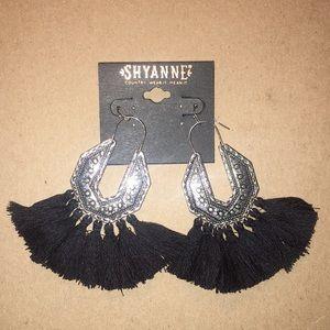 Shyanne dangle earrings with tassel trim